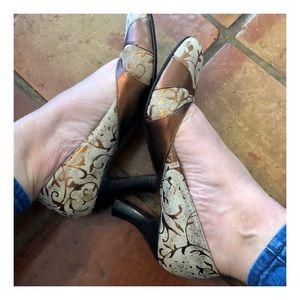 Laura Pritcher Vintage Suede Heels,  Italy, 37.5